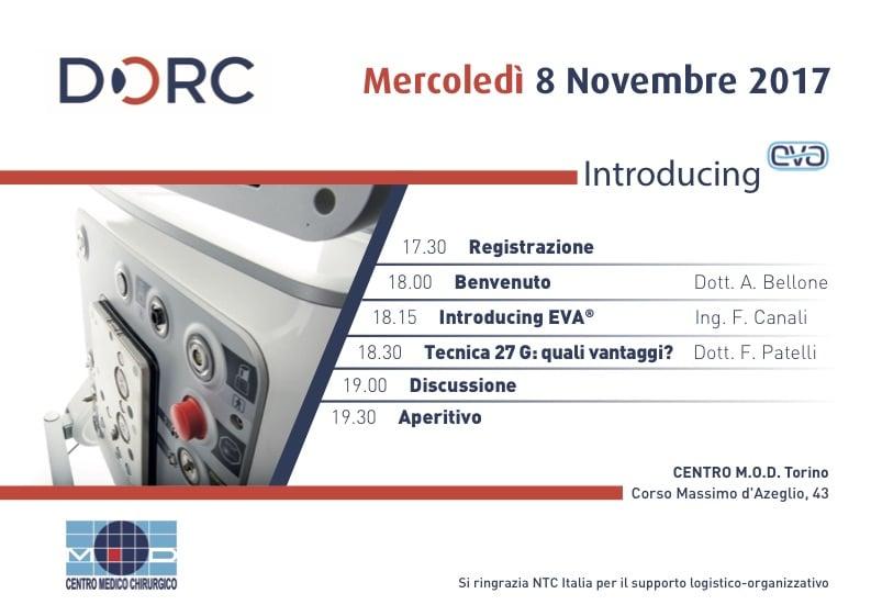 08.11.17 | Introducing EVA DORC – MOD Eye Clinic Torino